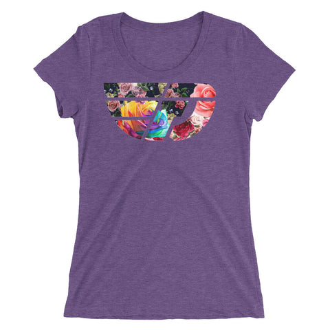 Fly Definition Womens Tri-blend Front Floral Tee