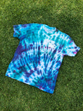 Fly Definition Trippy Blue Tie Dye T-Shirt