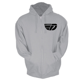 Fly Definition Heather Grey Zip Hoodie