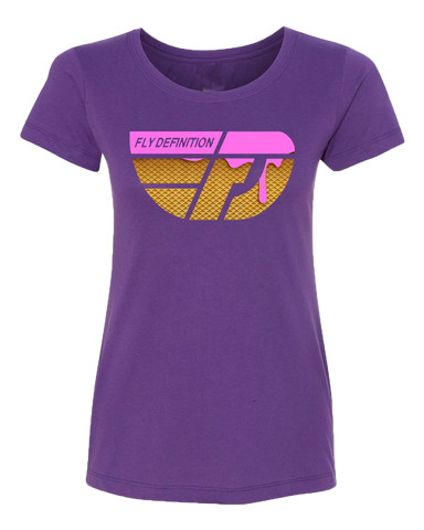 Fly Definition Womens Pink Ice Cream Tee