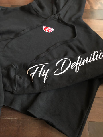Fly Definition Womens Crop Hoodies