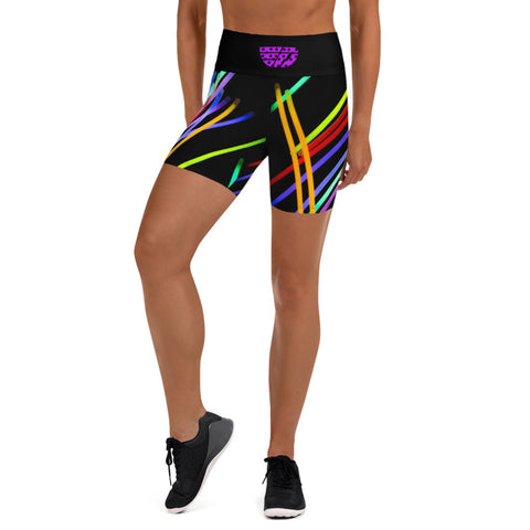 Neon High Waisted Compression Shorts