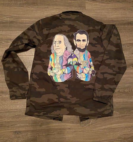 FD x b.i.n.x.art  - Dead Presidents Paid In Full Coach's Jacket