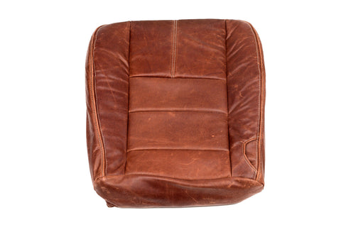 08-10 Ford F-250 4x4 Diesel F250 Driver Bottom King Ranch Leather Seat Cover - usautoupholstery