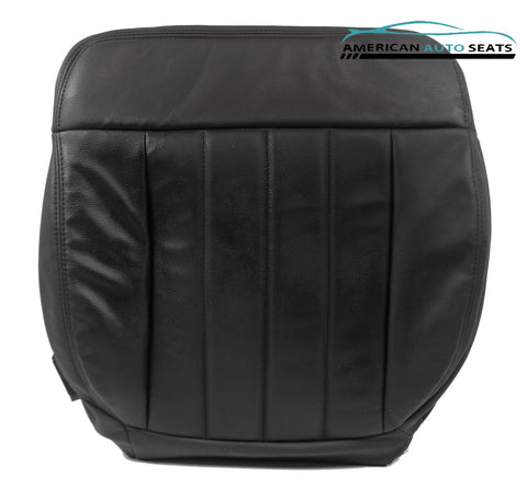 06 Ford F-150 Harley-Davidson Quad-Cab PASSENGER Bottom Leather Seat Cover BLACK - usautoupholstery