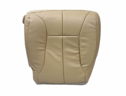 98-02 Dodge Ram 5.9L Diesel Passenger Bottom Synthetic Leather Seat Cover TAN - usautoupholstery