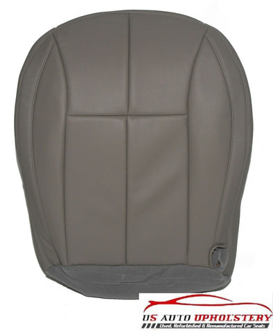 99-04 Jeep Grand Cherokee Driver Bottom Synthetic Leather Seat Cover Gray - usautoupholstery