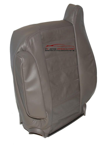 2003-2007 Hummer H2 SUV Sport Utility Driver LeanBack Leather Seat Cover Gray - usautoupholstery
