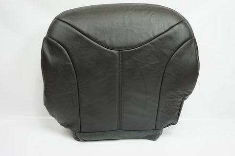 99-02 GMC Sierra 1500 3500 2500 SLT *Driver Bottom Leather Seat Cover Dark Gray* - usautoupholstery
