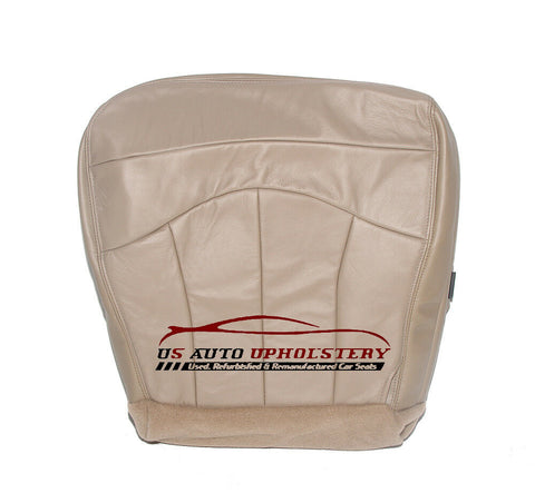 00 & 01 Ford F150 Lariat Driver Side Bottom Leather Seat Cover - Tan - usautoupholstery