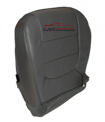 01 02 03 Ford F-150 Lariat 4WD CREW Driver Side Bottom Leather Seat Cover Gray - usautoupholstery