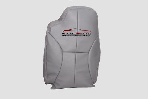 1998 1999 Dodge Ram 3500 Driver Side Lean Back Synthetic Leather Seat Cover Gray - usautoupholstery