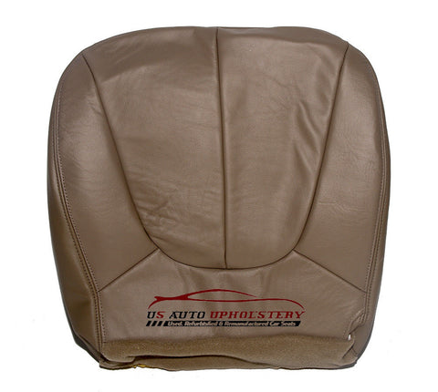 1997-2002 Ford Expedition Eddie Bauer Driver Side Bottom Leather Seat Cover TAN - usautoupholstery