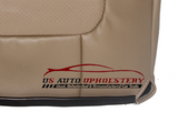 2001-01 Ford F350 Leather Seat Cover Lariat Second Row 40 Bottom Perforated Tan - usautoupholstery