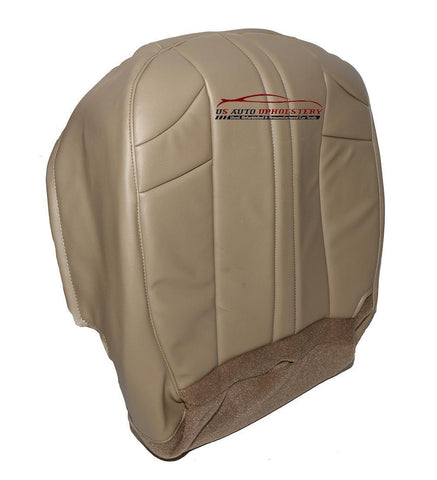 2002-2007 Jeep Grand Cherokee Driver Bottom Synthetic Leather Seat Cover Tan - usautoupholstery