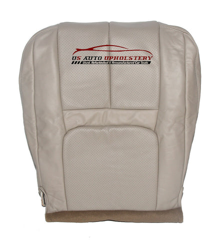 00-02 Cadillac Escalade Driver Side Bottom PERFORATED Leather Seat Cover Shale - usautoupholstery