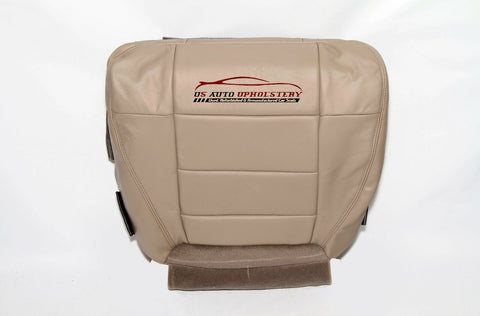2003 03 Ford F150 Lariat Driver Bottom Leather Seat Cover Medium Parchment TAN - usautoupholstery