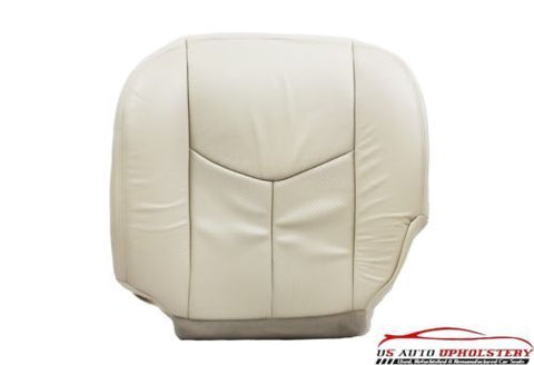 2004 Cadillac Escalade Driver Side Bottom Perforated Leather Seat Cover Shale - usautoupholstery