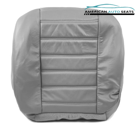 2003 2004 Hummer H2 SUV -Driver Side Bottom Replacement Leather Seat Cover Gray - usautoupholstery