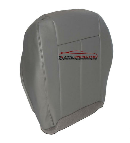2009 Chrysler 300 200 Driver Side Bottom Synthetic Leather Seat Cover Slate Gray - usautoupholstery