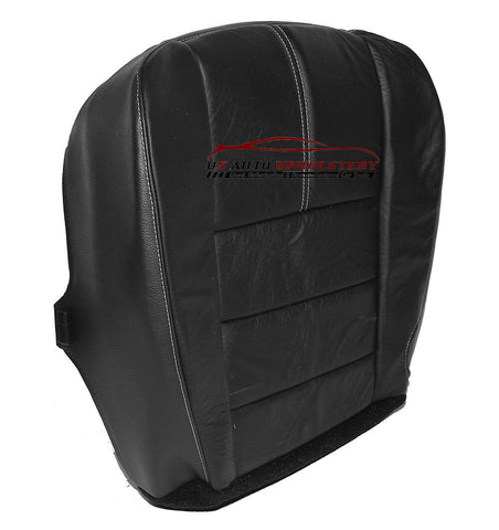 2008 2009 Ford F250 F350 Lariat 4X4 Quad Driver Bottom LEATHER Seat Cover Black - usautoupholstery