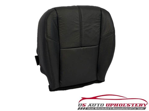 07-12 Chevy Silverado 2500HD Diesel 4X4 LT *Driver Bottom Leather Seat Cover Blk - usautoupholstery