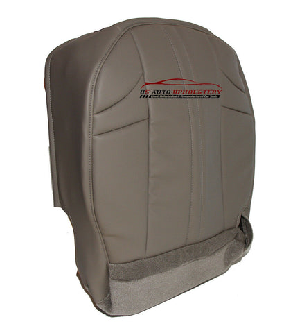 02-07 Jeep Grand Cherokee Passenger Bottom Synthetic Leather Seat Cover Gray - usautoupholstery