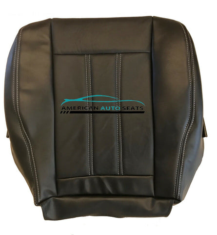 2013 Chrysler Town & Country, Van 4-Door, Driver Bottom Leather Seat Cover-Black