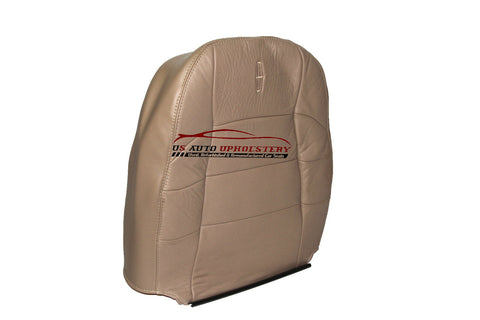 97- 99 Lincoln Navigator Driver Side Lean Back Bucket Leather Seat Cover Tan - usautoupholstery