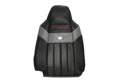 2006 2007 Ford F250 Harley Davidson Driver Lean Back Leather Seat Cover BLACK - usautoupholstery