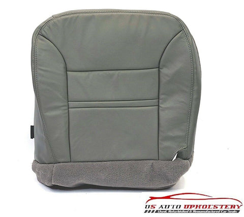 00 2001 - Ford Excursion Limited DRIVER Side Bottom LEATHER Seat Cover GRAY - usautoupholstery
