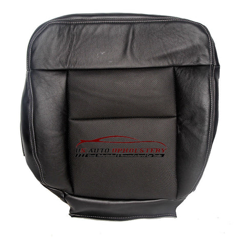 2008 2007 06 Ford F150 Lariat Driver Bottom Perforated Leather Seat Cover Black - usautoupholstery