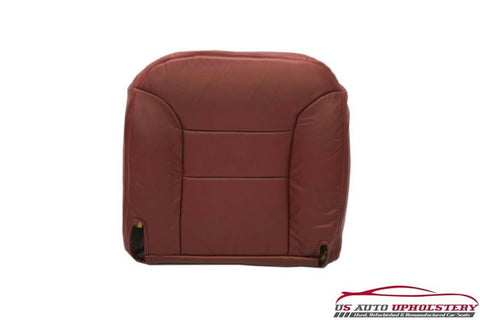 95-99 GMC Sierra 1500 Z71 SLT SLE Driver Bottom Leather Seat Cover RED/Burgundy - usautoupholstery