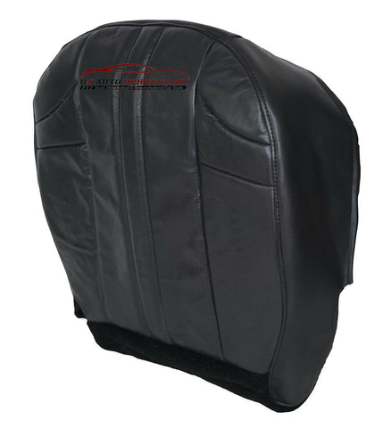 2006 2007 Jeep Grand Cherokee Driver Bottom Leather Seat Cover Dark Gray - usautoupholstery