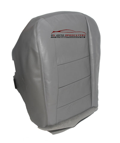 03 04 Ford F250 F350 Lariat 4X4 .. Diesel Leather Driver Bottom Seat Cover GRAY - usautoupholstery