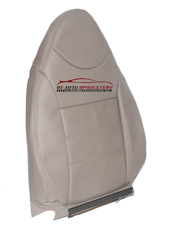01 02 Ford Escape Driver Side Lean Back Synthetic Leather Seat Cover Tan - usautoupholstery
