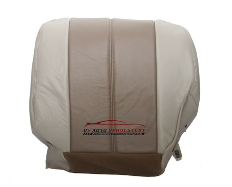 01 02 GMC Yukon Denali Driver Bottom Replacement Leather Seat Cover 2 Tone Tan - usautoupholstery