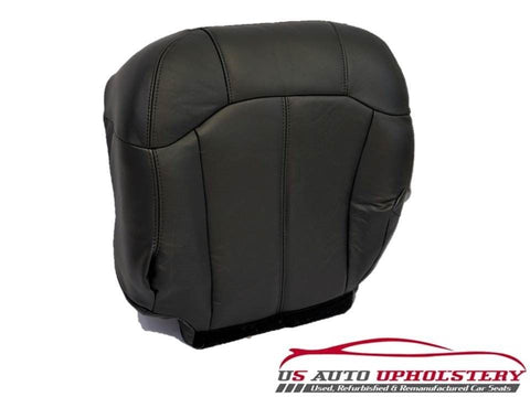 2002 Chevy 2500HD 3500 LT Z71 Driver Side Bottom LEATHER Seat Cover Dark Gray - usautoupholstery