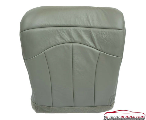 2003 Ford F150 Lariat *Driver Side Bottom Captain Bucket Leather Seat Cover GRAY - usautoupholstery