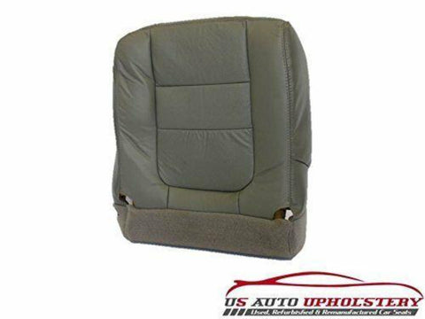 00 01 Ford F250 4X4 7.3L Diesel Lariat PERFORATED Driver LEATHER Seat Cover GRAY - usautoupholstery