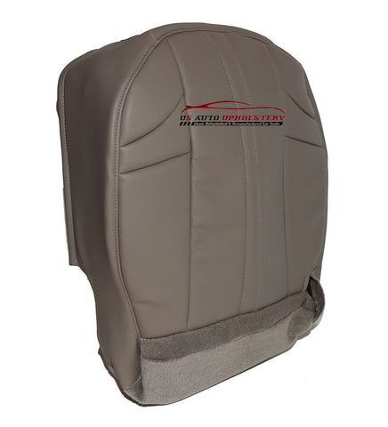 2002-2007 Jeep Grand Cherokee Driver Bottom Synthetic Leather Seat Cover Gray - usautoupholstery
