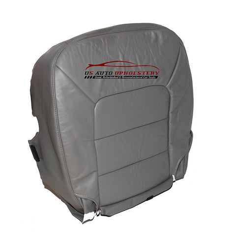 2003-2006 Ford Expedition Limited XLT Passenger Bottom Leather Seat Cover Gray - usautoupholstery