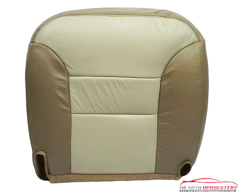 2000 Chevrolet Tahoe Z71 Driver Bottom Replacement Leather Seat Cover 2-Tone Tan - usautoupholstery
