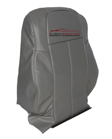 06-10 Chrysler 300 200 Driver Lean Back Synthetic Leather Seat Cover Slate Gray - usautoupholstery