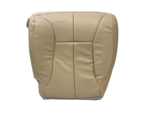 2000 Dodge Ram 3500 Quad -Driver Side Bottom Synthetic Leather Seat Cover Tan - usautoupholstery