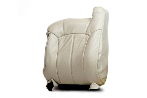 99-01 Chevy 1500HD 2500HD 3500 LT Driver Side LEAN BACK Leather Seat Cover SHALE - usautoupholstery