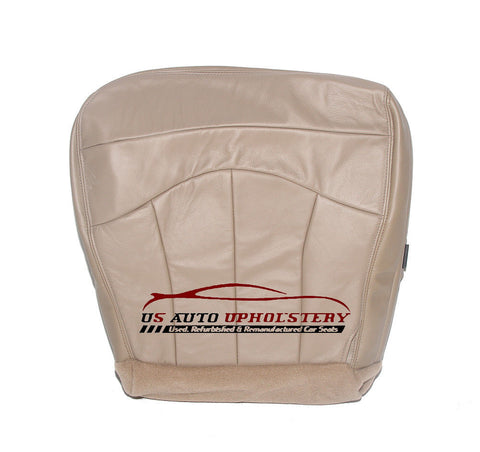 2000 Ford F150 Lariat -Driver Side Bottom Replacement Leather Seat Cover TAN - usautoupholstery
