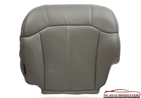 2002 Escalade -Driver Side Bottom PERFORATED Replacement Leather Seat Cover Gray - usautoupholstery