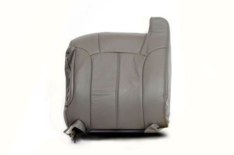 99-01 Chevy 1500HD 2500HD 3500 LT -Driver Side LEAN BACK Leather Seat Cover Gray - usautoupholstery