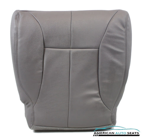 1998 1999 Dodge Ram 3500 Driver Side Bottom Synthetic Leather Seat Cover Gray - usautoupholstery